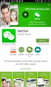 Photo of WeChat App